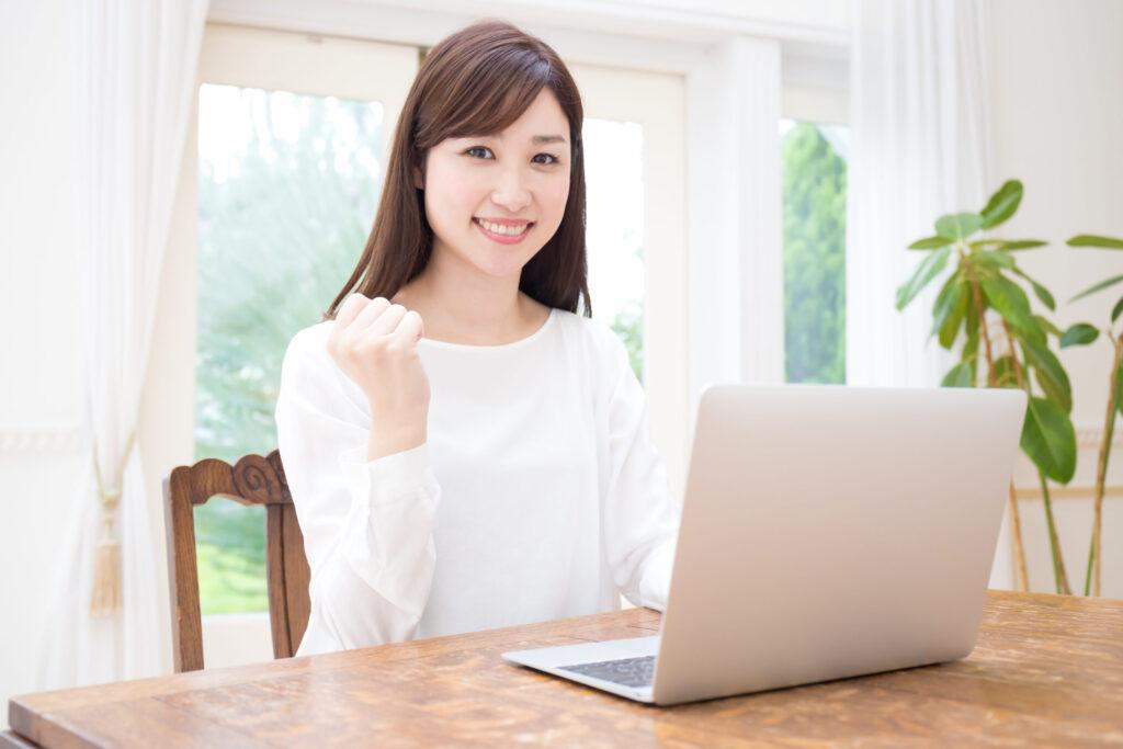 ネット試験の女性